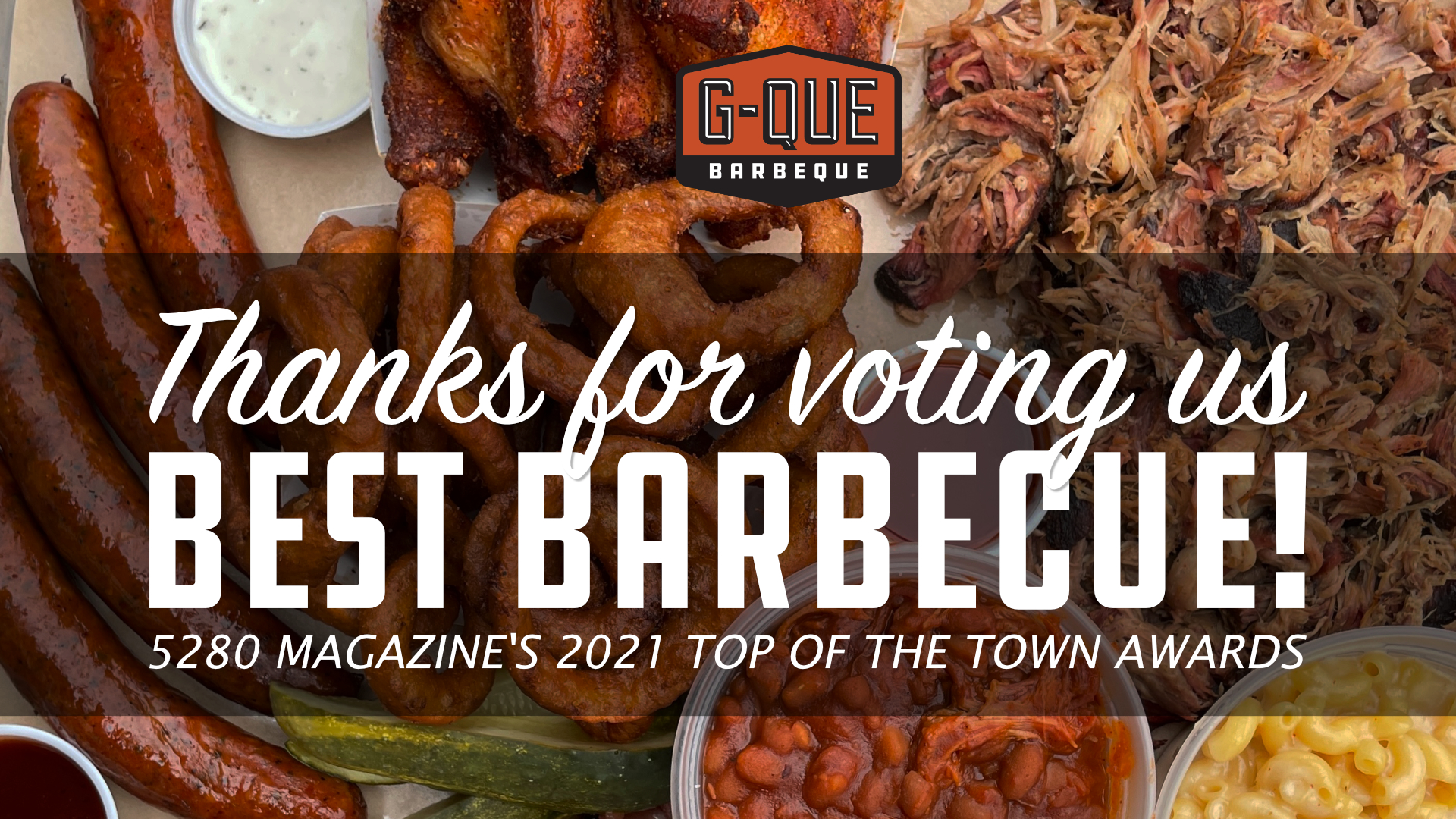 """Thanks for voting us """"Best Barbecue""""!"""